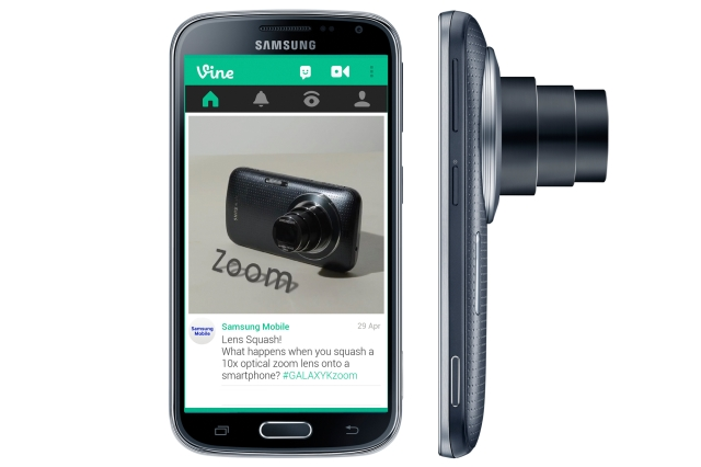 Galaxy K zoom with Vine app