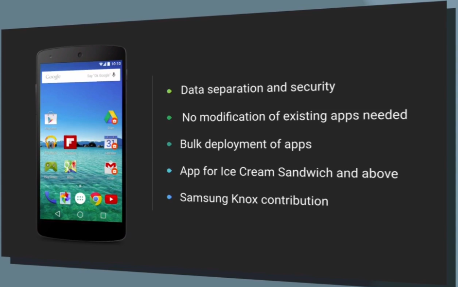 Samsung KNOX a Android L