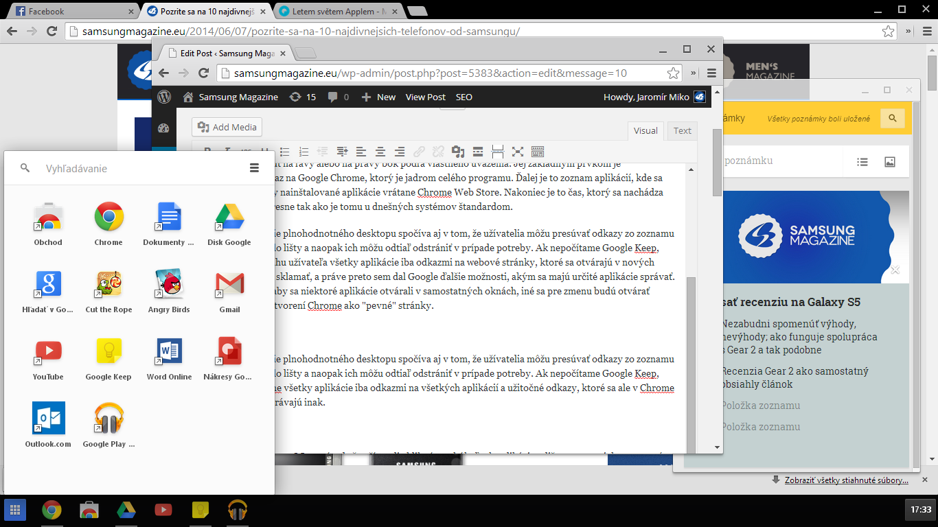 Google Chrome Windows 8 Mode