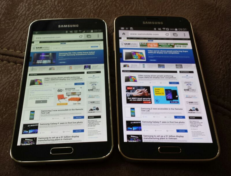 Galaxy S5 LTE-A display