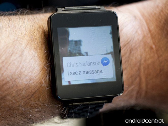 Android Wear Facebook Messenger