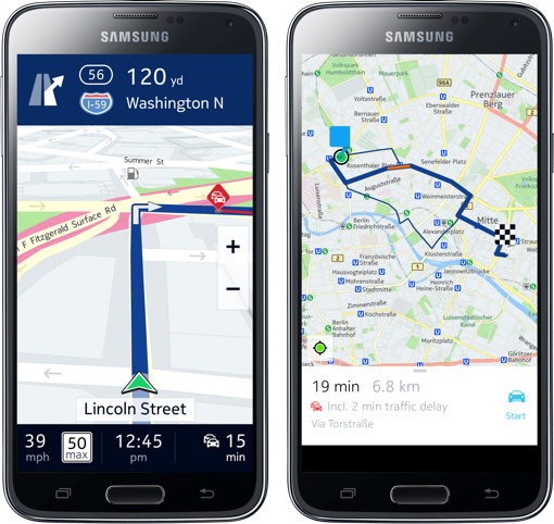HERE Maps for Android beta