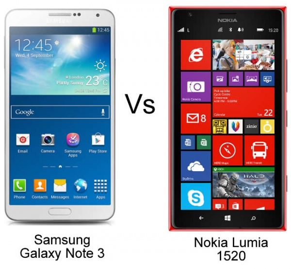 Nokia Lumia 1520 & Galaxy Note 3