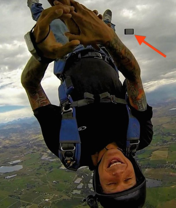 Skydiving iPhone fail