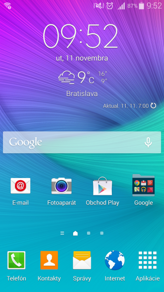 TouchWiz homescreen
