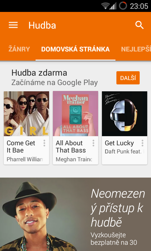 Google Play hudba
