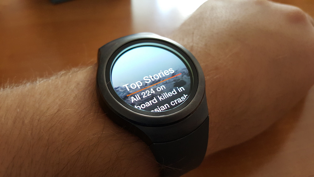 Samsung Gear S2 CNN