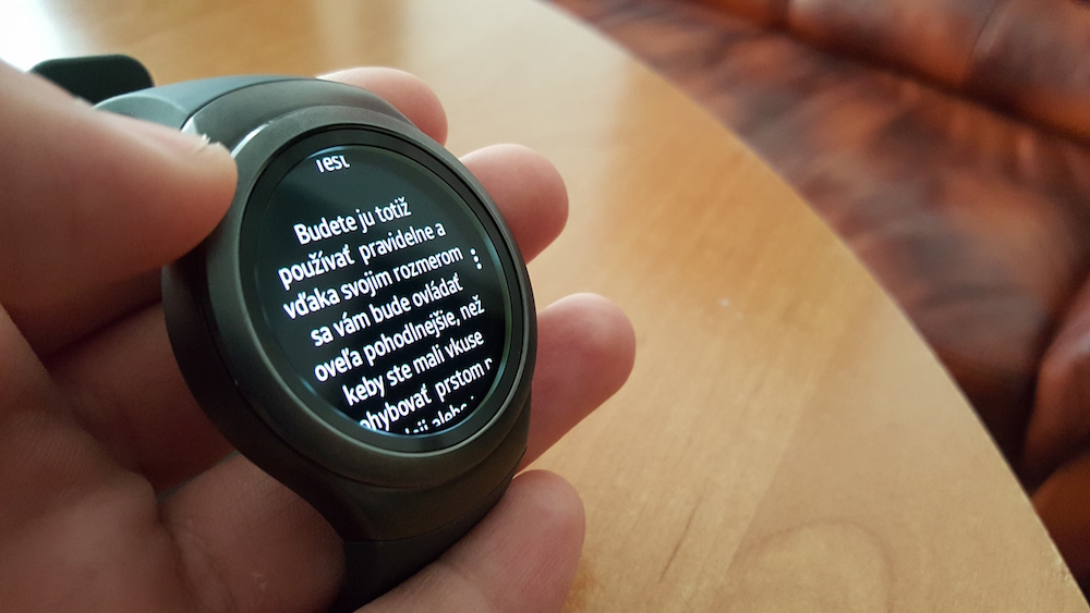 Samsung Gear S2 Reading