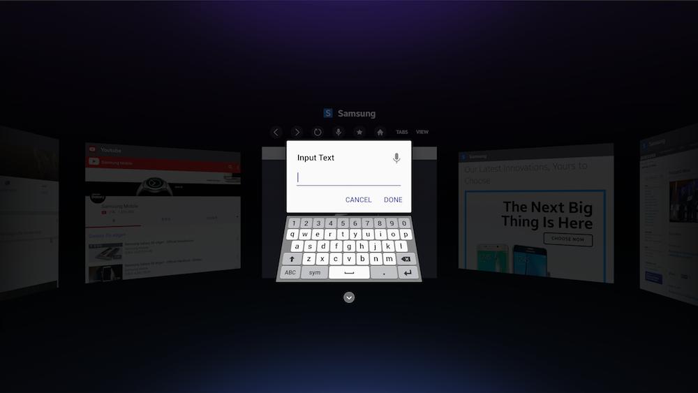 Gear VR Internet Keyboard