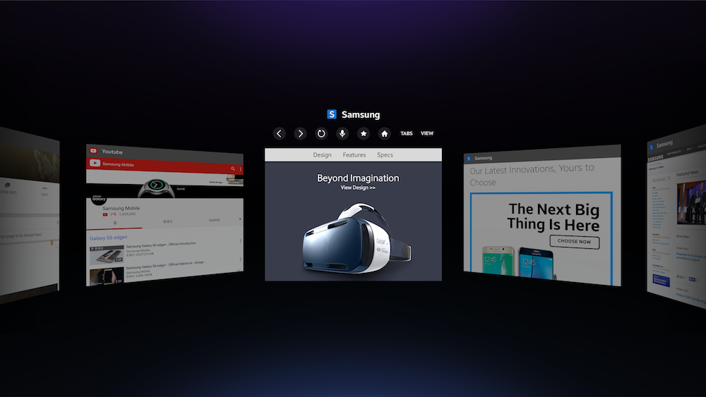 Gear VR Internet View