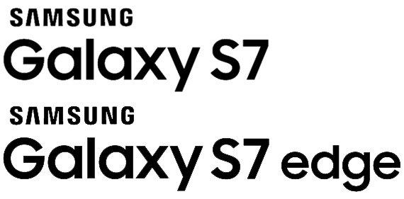 Galaxy S7 and Galaxy S7 edge logos