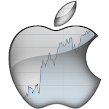 Apple stock akcie logo