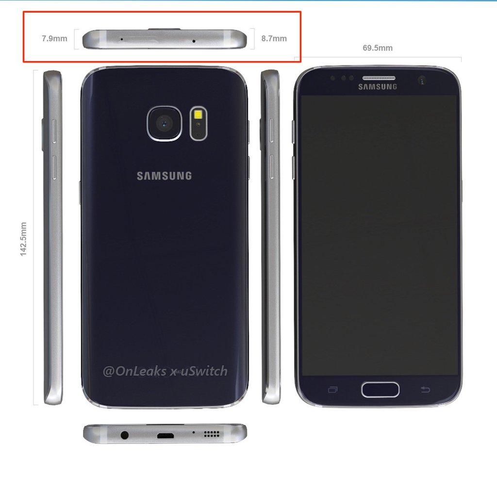 Galaxy S7 OnLeaks Render