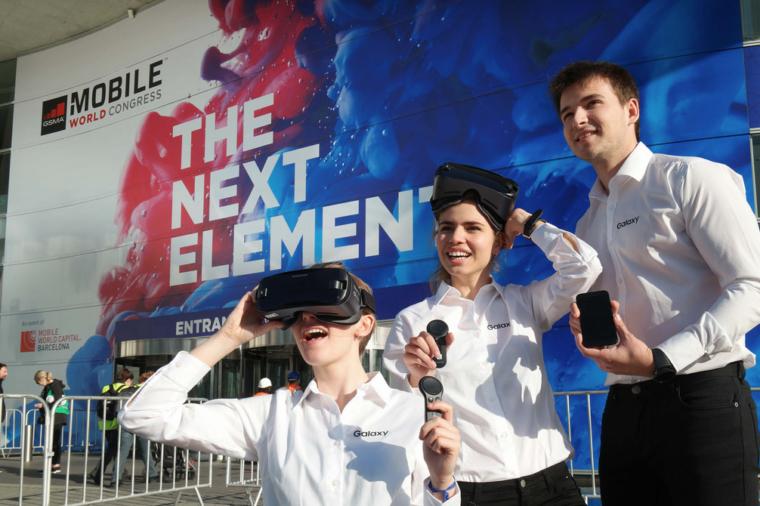 MWC 2017 Samsung Galaxy Gear VR controllers