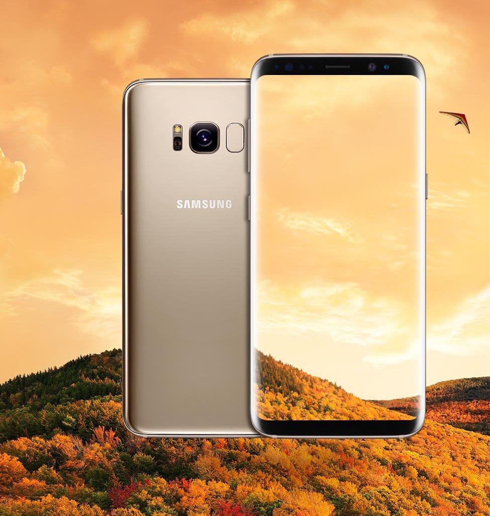 Galaxy S8 Gold Blass 1