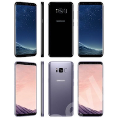 Galaxy S8 all colors evleaks icon