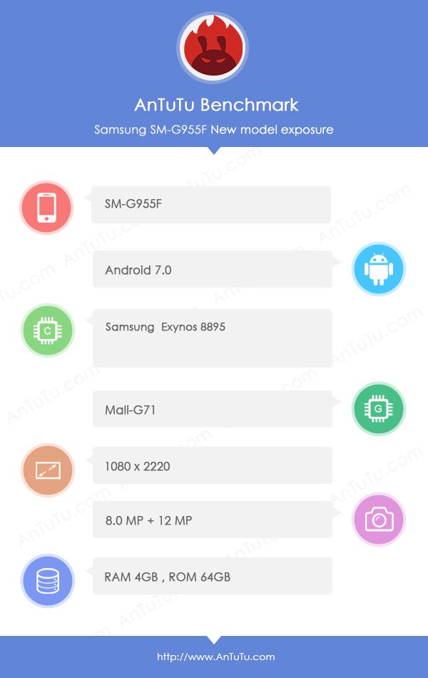 Galaxy S8 benchmark leak 2