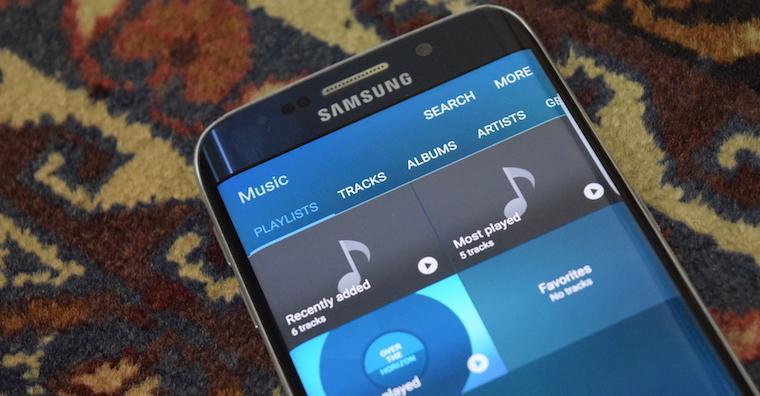 Hudba Galaxy s7