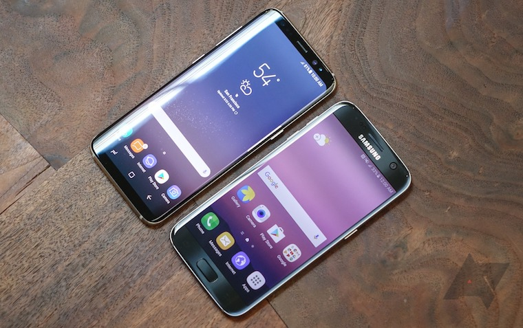 Samsung Galaxy S7 vs Galaxy S8 FB