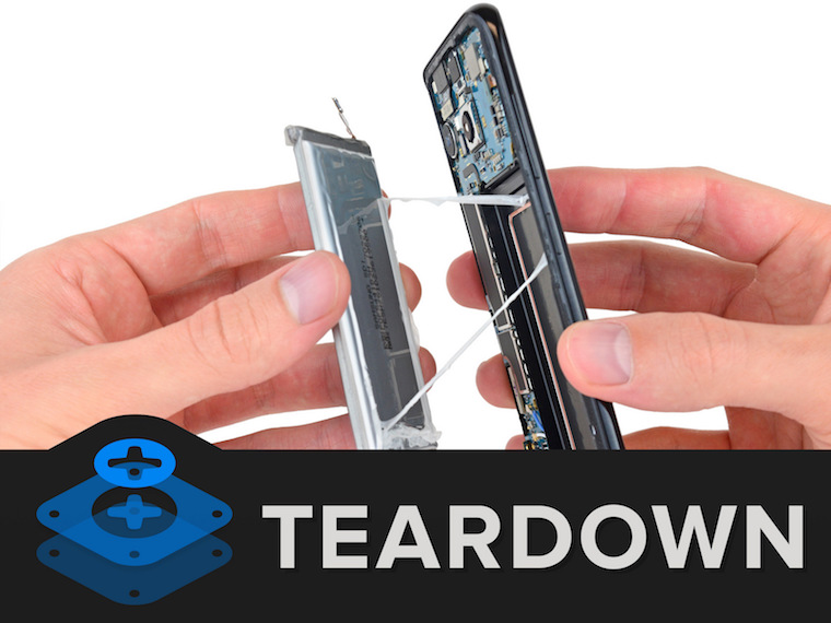 Samsung Galaxy S8 teardown 1