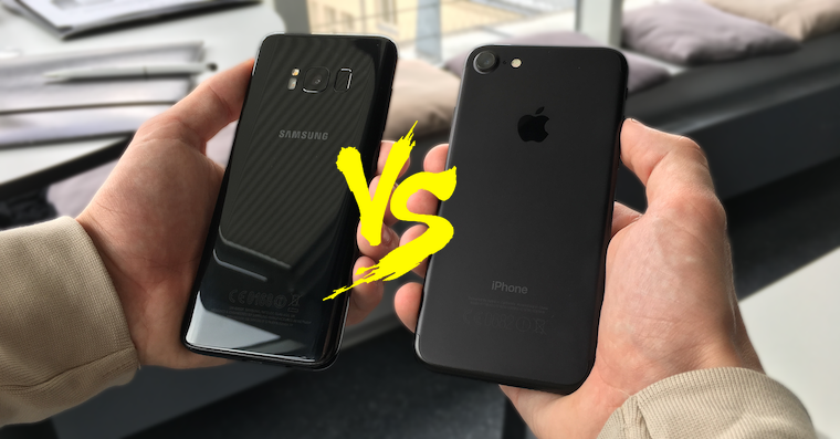 Galaxy S8 vs iPhone 7 FB