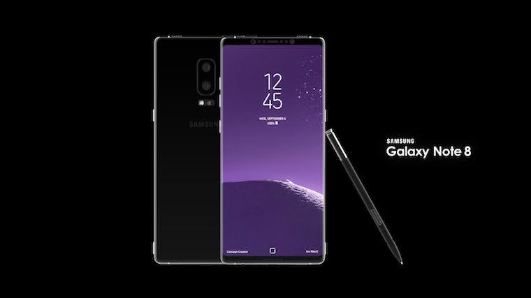 Samsung Galaxy Note 8 koncept 1