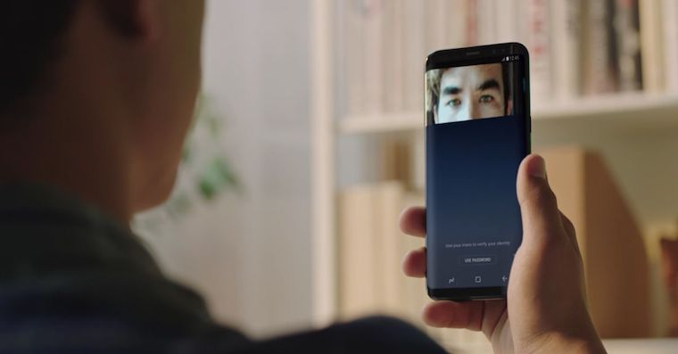 Samsung Galaxy S8 iris scanner FB