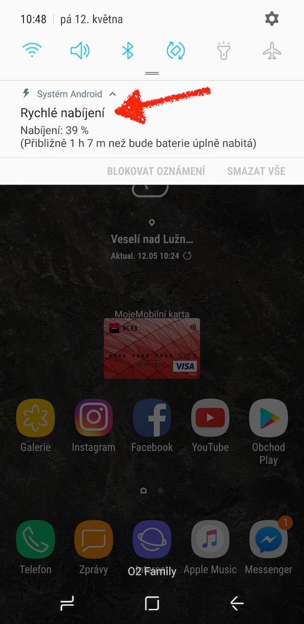 Samsung Galaxy S8 rychle nabijeni 2