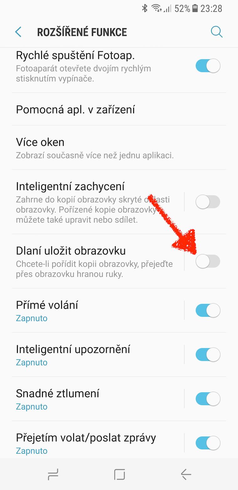 Galaxy S8 snimek obrazovky 3