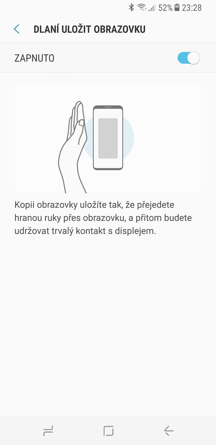 Galaxy S8 snimek obrazovky 6