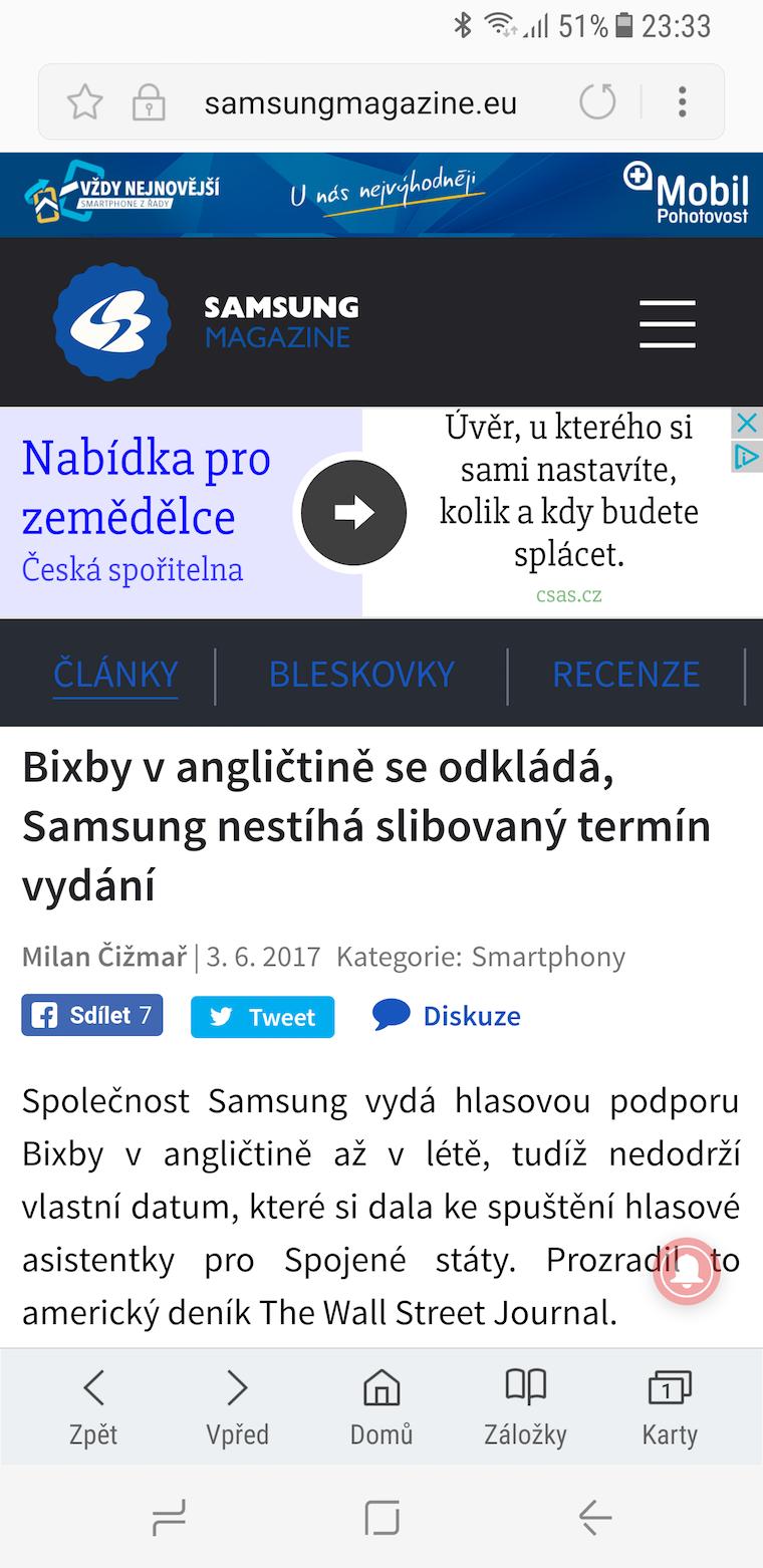 Galaxy S8 snimek obrazovky 7