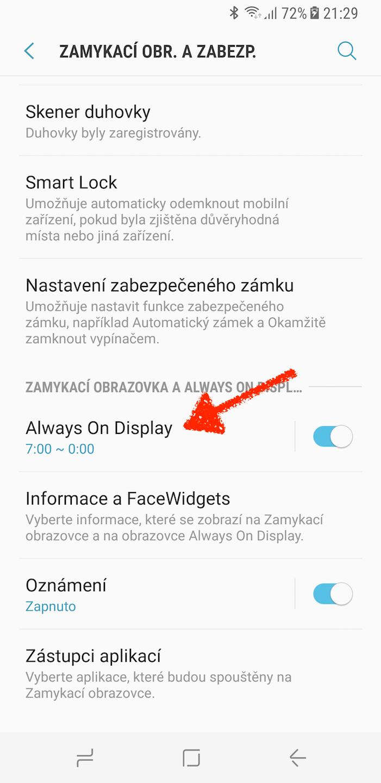 Samsung Galaxy S8 always on display home button 2