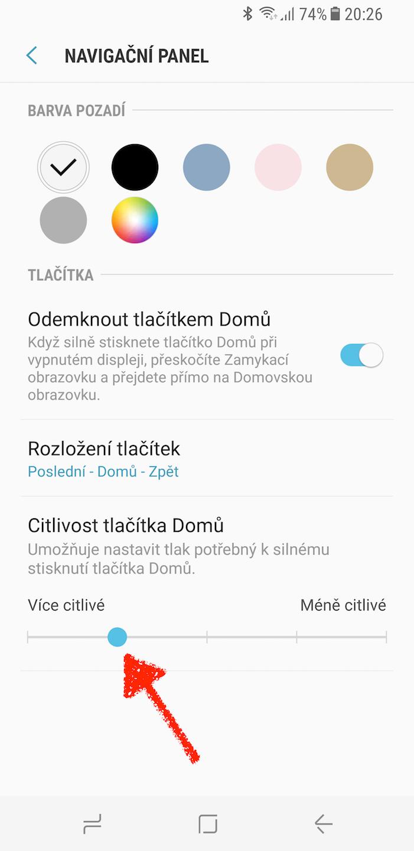 Samsung Galaxy S8 domovske tlacitko triky 1