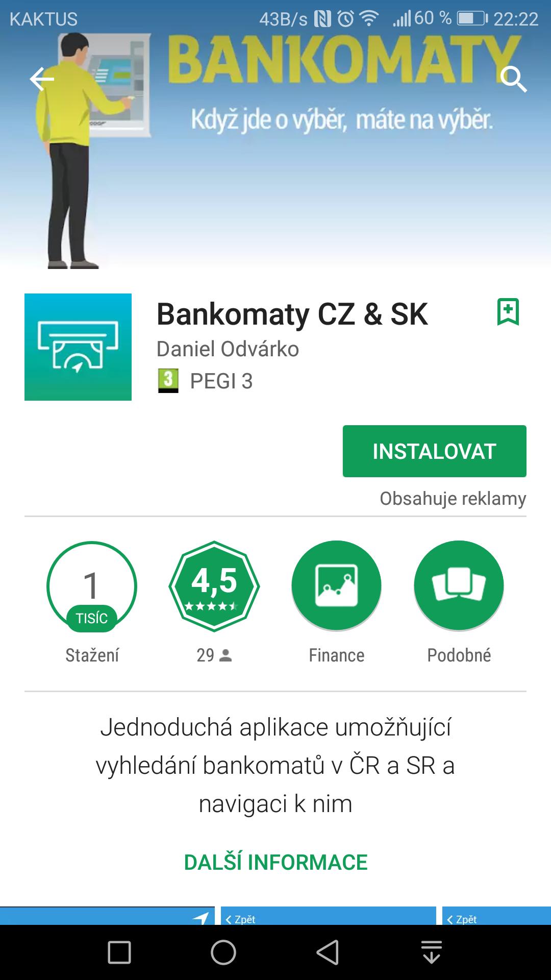 Bankomaty CZ & SK 1