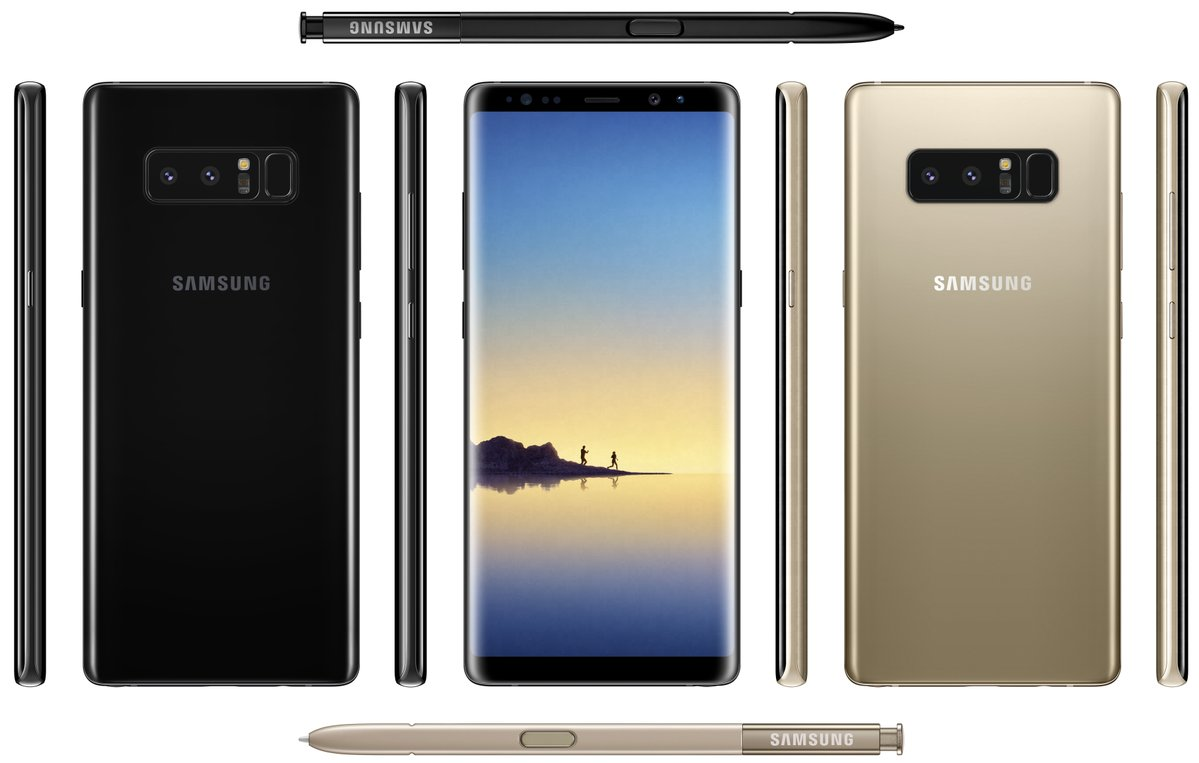 Galaxy Note 8 render leak