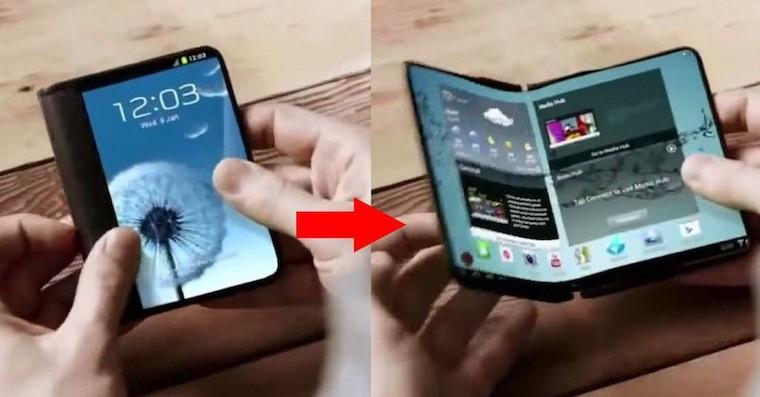 Samsung foldable smartphone FB
