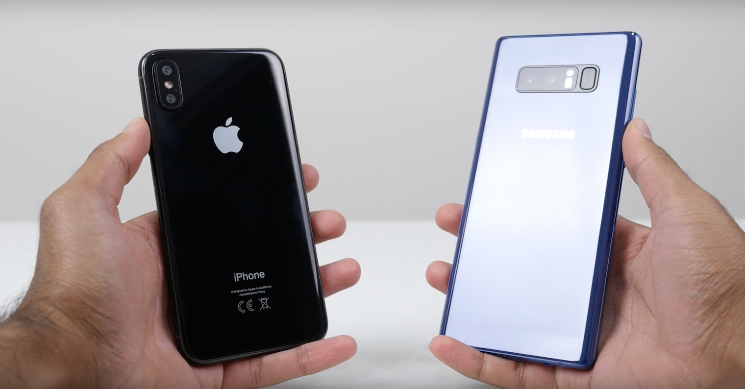 Galaxy Note 8 vs iPhone X