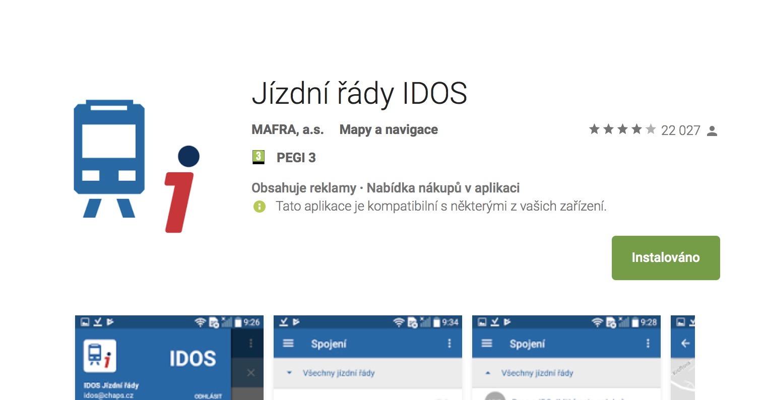 Jizdni rady IDOS FB