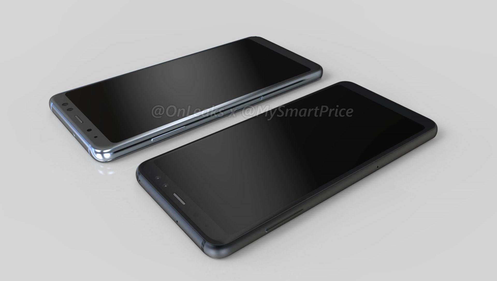 Samsung Galaxy A5 Galaxy A7 2018 render 1