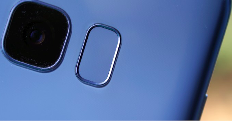 ctecka otisku prstu na zadech Samsung
