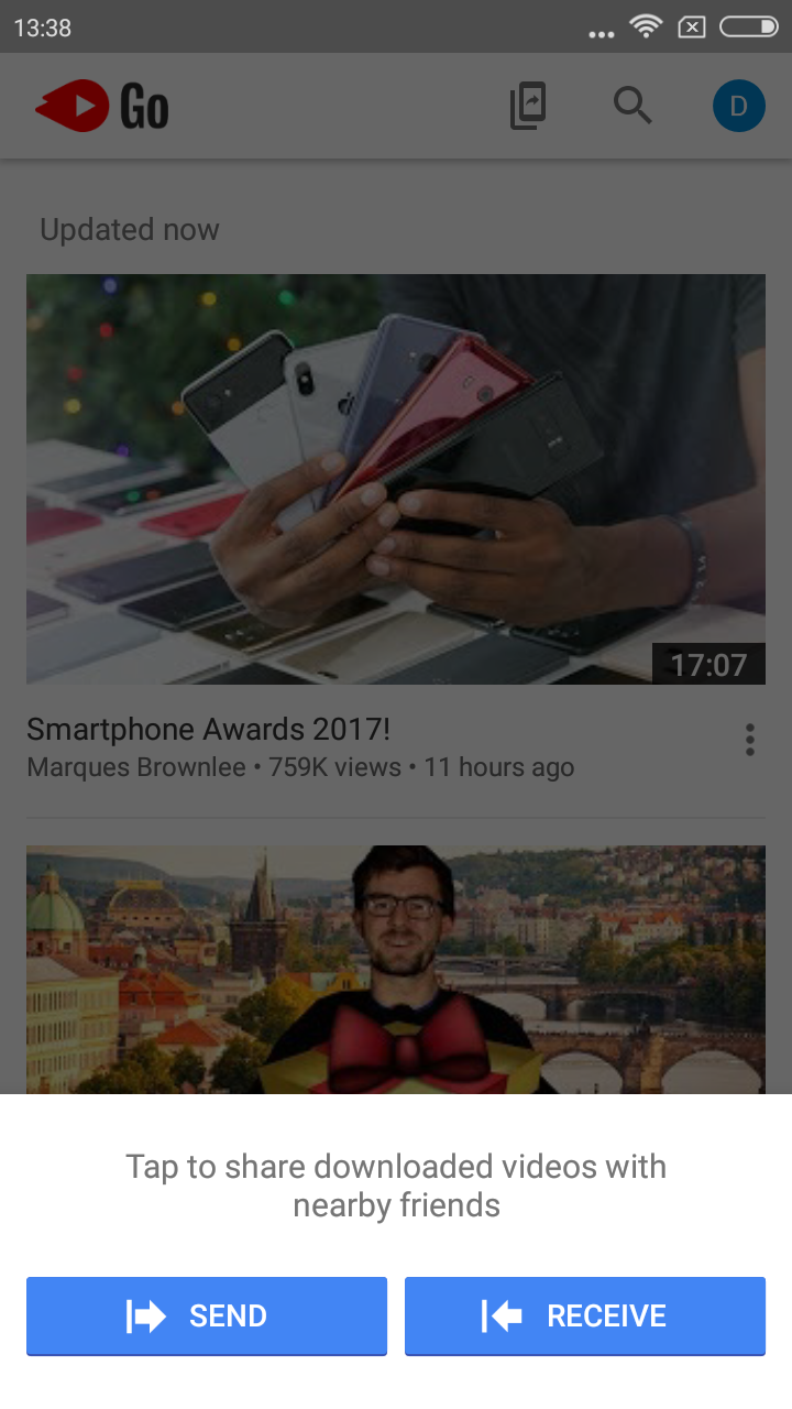 YouTube Go app 1