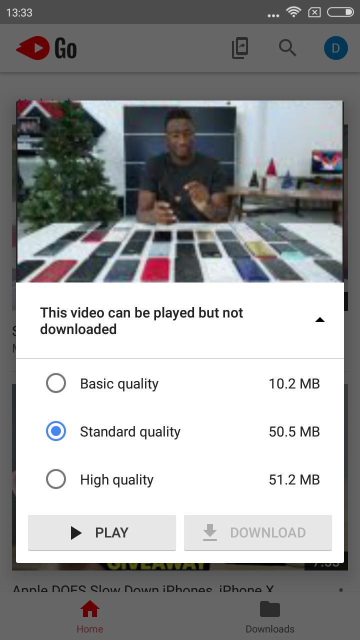 YouTube Go app 2
