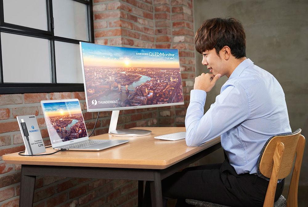Samsung CJ791 QLED monitor 4