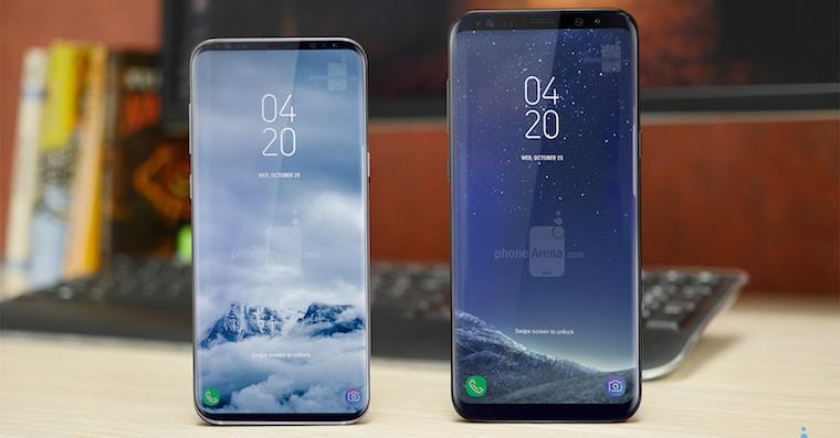 Sasmung Galaxy S8 vs Galaxy S9 concept FB