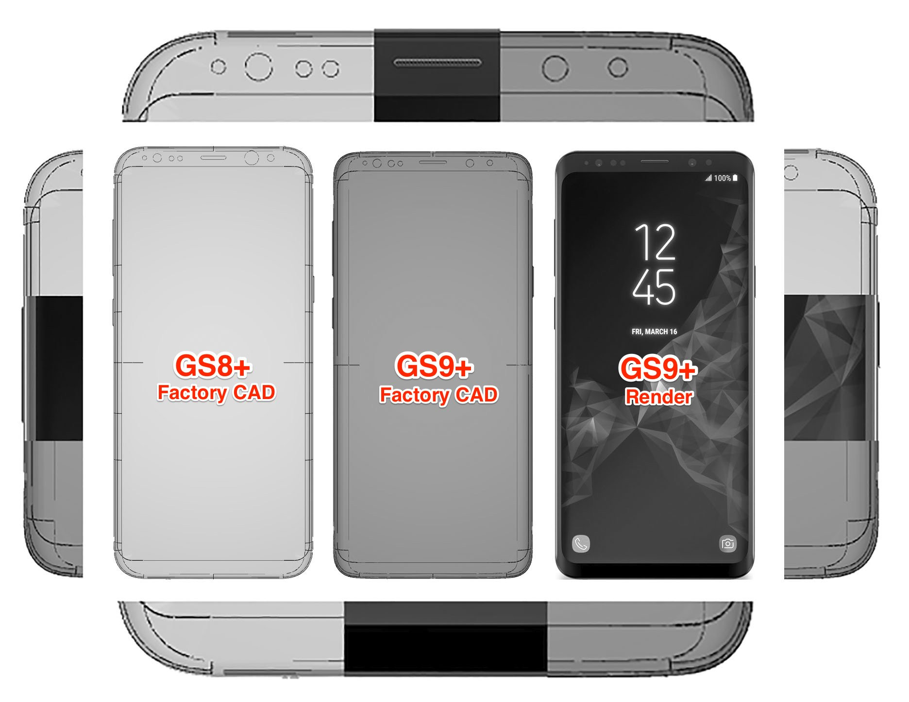 Galaxy S9 vs S8 factory renders 1