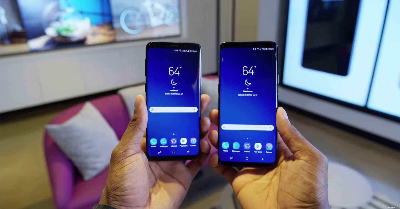 Samsung Galaxy S9 S9 Plus hands FB