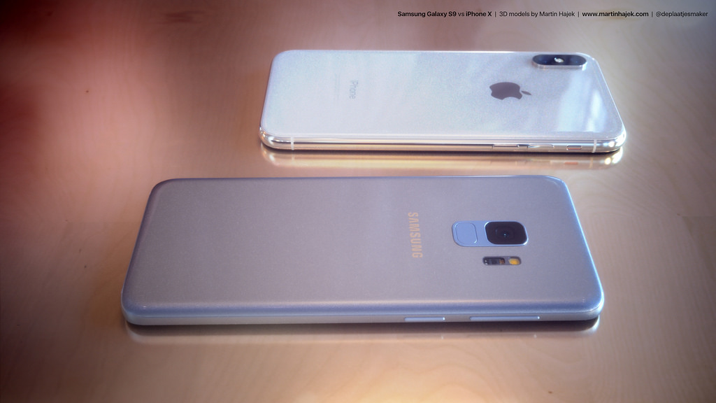 Samsung Galaxy S9 vs iPhone X render 8