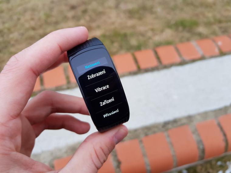 Samsung Gear Fit2 Pro menu nastaveni