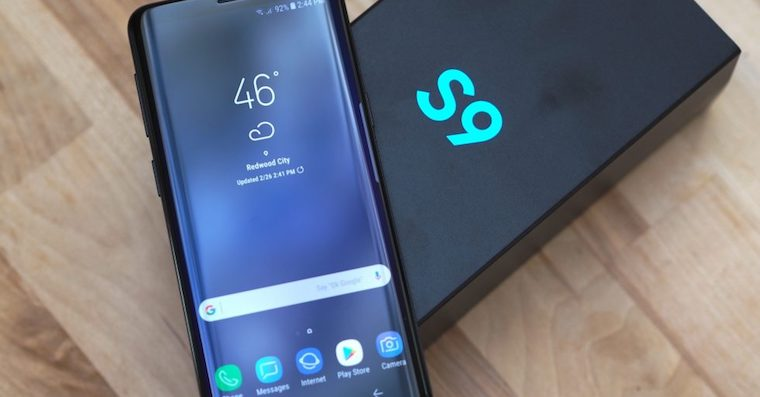 Samsung Galaxy S9 packaging FB