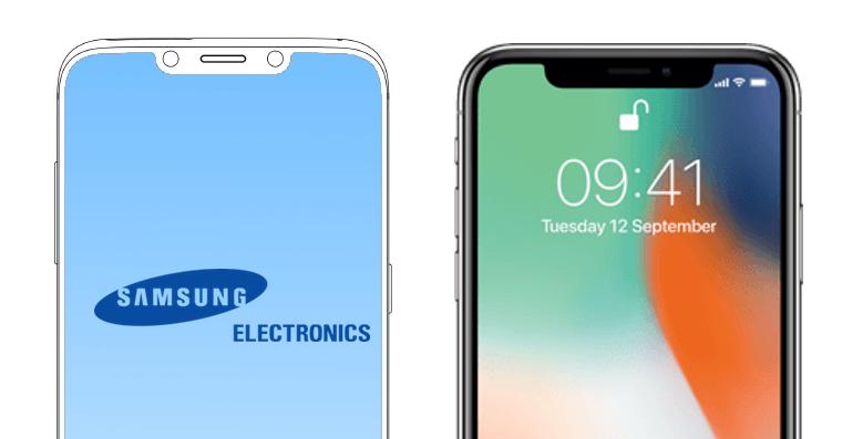 Samsung notch iPhone X FB